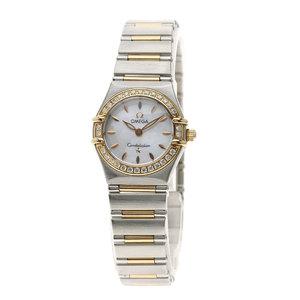 OMEGA 1360.72 Constellation Diamond Bezel Watch Stainless Steel K18PG Ladies