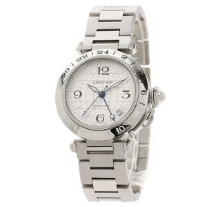 CARTIER W31078M7 Pasha C Meridian Watch Stainless Steel Mens
