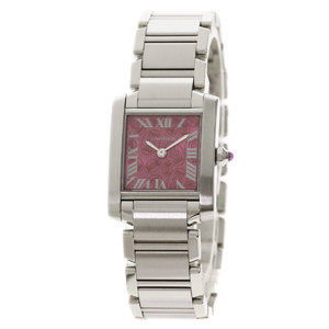 CARTIER W51030Q3 Tank Francaise SM Christmas Limited Watch Stainless Steel ladies