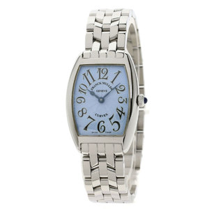 FRANCK MULLER 1752QZ Tonneau Curvex Watch Stainless Steel Ladies