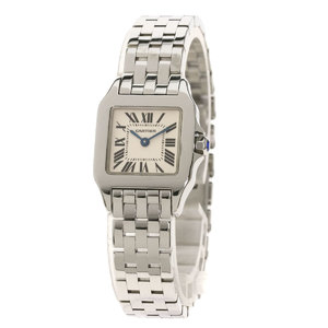CARTIER W25064Z5 Santos Dumoiselle SM Watch Stainless Steel ladies