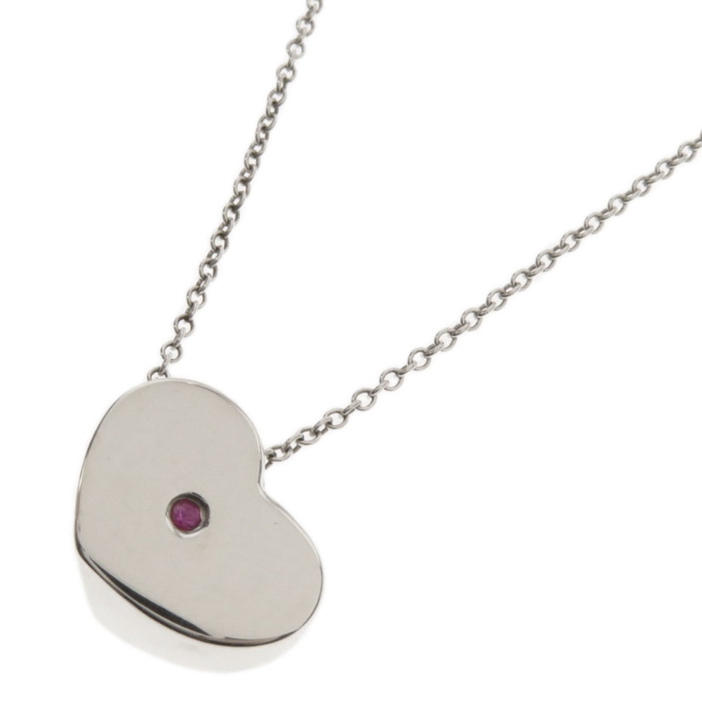 Tiffany Heart Pink S Necklace Silver Ladies Tiffany Co Elady Com