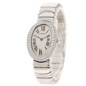 CARTIER WB9097L2 Benowir Double Bezel Diamond Watch K18 White Gold K18WG ladies