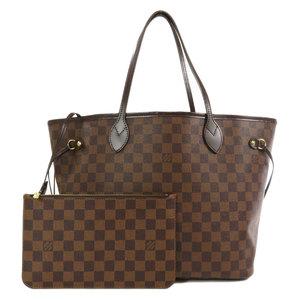 Louis Vuitton N51105 Neverfull MM Damier Ebene Tote Bag Canvas Ladies LOUIS VUITTON