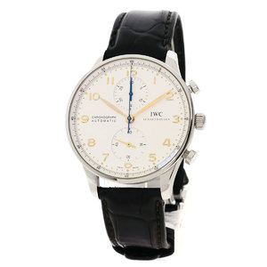 IWC IW371445 IWC Portugieser Wrist Watch Stainless Steel Leather Mens