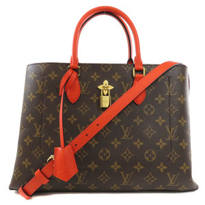 Louis Vuitton M43553 Flower Tote Monogram Handbag Canvas Ladies LOUIS VUITTON