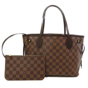 Louis Vuitton N41359 Neverfull PM Damier Ebene Tote Bag Canvas Ladies LOUIS VUITTON
