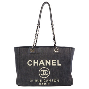 Chanel Deauville Tote Bag Canvas Women CHANEL