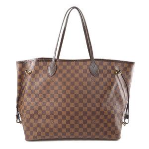 Louis Vuitton N51106 Neverfull GM Damier Ebene Tote Bag Canvas Ladies LOUIS VUITTON