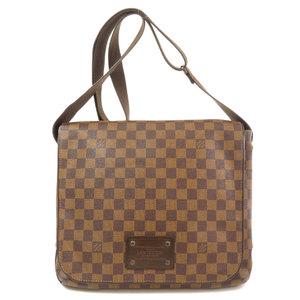 Louis Vuitton N51211 Brooklyn MM Damier Ebene Shoulder Bag Canvas Men's LOUIS VUITTON