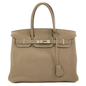 Hermes Birkin 30 Silver Hardware Taurillon Tourtier Handbag Ladies HERMES