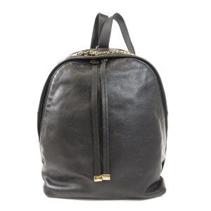 Furla logo embossed backpack daypack leather ladies