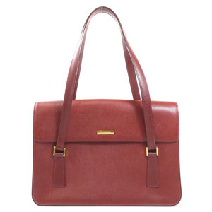 Burberry Logo Handbag Leather Women's BURBERRY
