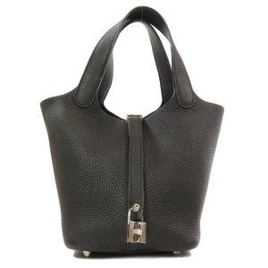 Hermes Picotan Lock PM Silver Hardware Handbag Taurillon Ladies HERMES