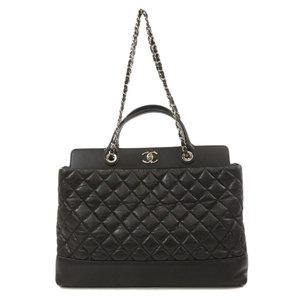 Chanel 2WAY Chain Silver Matrasse Handbag Calf Ladies CHANEL