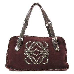 Loewe Anagram Studs Handbag Suede Ladies LOEWE