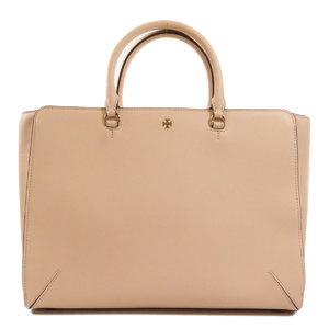 Tory Burch Logo 2way Tote Bag Leather Ladies
