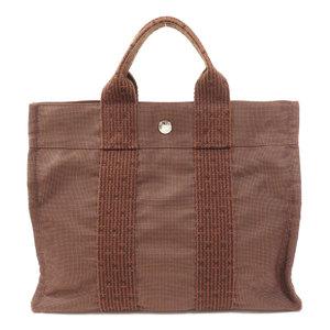 Hermes Ale Line Tote PM Handbag Canvas Womens HERMES