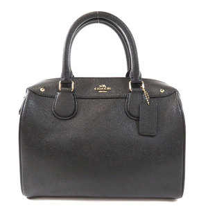Coach F57521 Cross Grain Bennett Mini Satchel 2WAY Handbag Leather Ladies COACH