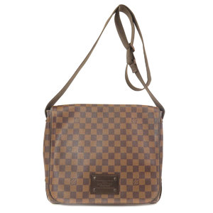 Louis Vuitton N51211 Brooklyn MM Damier Ebene Shoulder Bag Canvas Men's LOUIS VUITTON