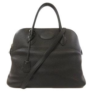 Hermes Borido 37 Taurillon Black Silver Hardware Handbag Ladies HERMES