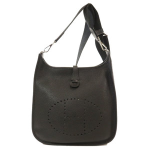 Hermes Evelyn 3 PM Black Shoulder Bag Taurillon Ladies HERMES