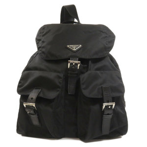 Prada logo plate backpack daypack nylon ladies PRADA