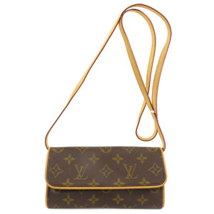 Louis Vuitton M51854 Pochette Twin PM Monogram Shoulder Bag Canvas Ladies LOUIS VUITTON