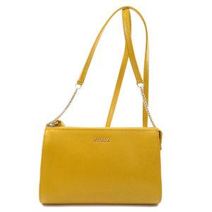 Furla Logo Shoulder Bag Leather Ladies