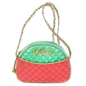 Gucci 534951 Interlocking G Laminate Shoulder Bag Leather Ladies GUCCI