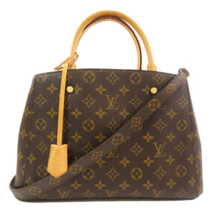 Louis Vuitton M41056 Montaigne MM Monogram Handbag Canvas Ladies LOUIS VUITTON