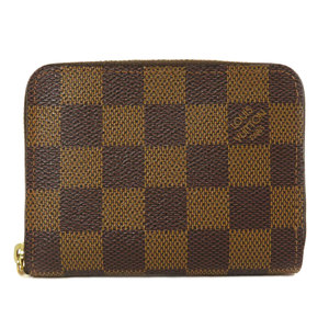 Louis Vuitton N63070 Zippy Coin Purse Damier Ebene Case Canvas Unisex LOUIS VUITTON