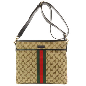 Gucci 388926 GG Sherry Line Shoulder Bag Canvas Ladies GUCCI