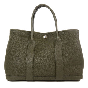 Hermes Garden Party TPM Taurillon Olive Green Tote Bag Ladies HERMES