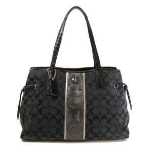 Coach F24882 Signature Tote Bag Canvas Ladies COACH