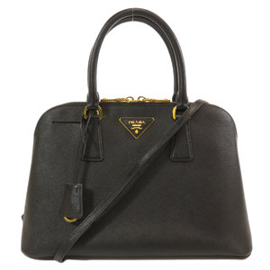 Prada BL0837 logo plate 2WAY handbag leather ladies PRADA