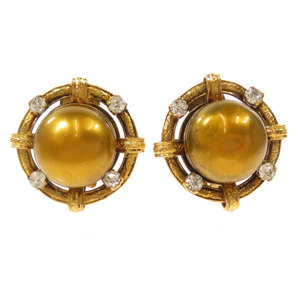 Chanel Rhinestone 99A Earring Ladies CHANEL