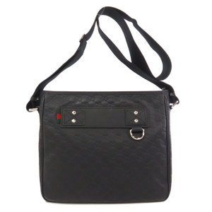 Gucci 322080 GG Shima Rubber Coating Shoulder Bag Black Men's GUCCI