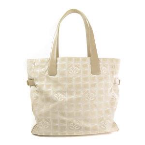 Chanel New Travel Line Tote Bag Nylon Jacquard Ladies CHANEL