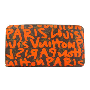 Louis Vuitton M93711 Zippy Wallet Graffiti Orange Monogram Canvas Ladies LOUIS VUITTON