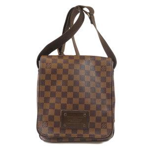 Louis Vuitton N51210 Brooklyn PM Damier Ebene Shoulder Bag Canvas Ladies LOUIS VUITTON