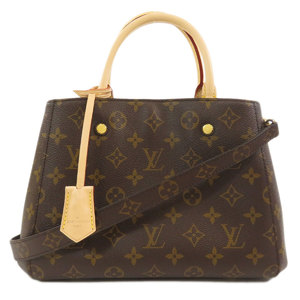 Louis Vuitton M41055 Montaigne BB Monogram Handbag Canvas Ladies LOUIS VUITTON