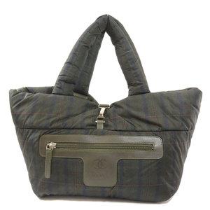 Chanel Coco Cocoon Plaid Tote Bag Nylon Ladies CHANEL