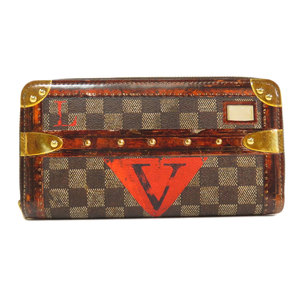 Louis Vuitton M63490 Zippy Wallet Trunk Transformed Damier Long Canvas Ladies LOUIS VUITTON
