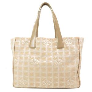 Chanel New Travel Line Tote MM Bag Nylon Jacquard Ladies CHANEL