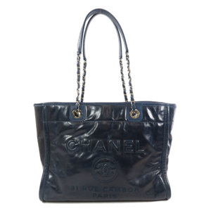 Chanel Deauville Chain Tote Bag Calf Ladies CHANEL