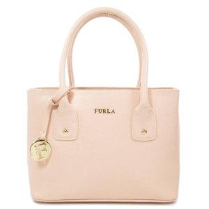 Furla Logo Logotype Handbag Leather Women's