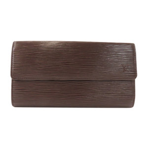 Louis Vuitton M6359D Pochette Portomonet Credit Mocha Wallet Epi Leather Ladies LOUIS VUITTON