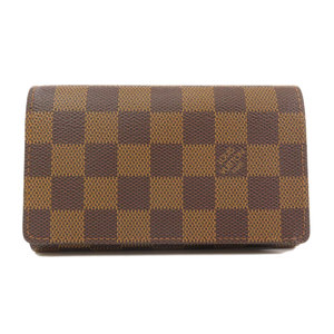 Louis Vuitton N61736 Porte Foille Tresor Bi-Fold Wallet Damier Canvas Women's LOUIS VUITTON
