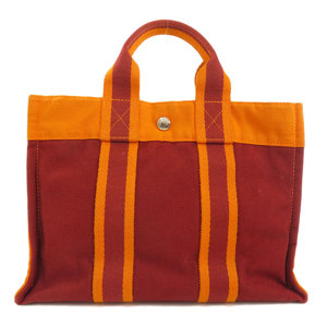 Hermes Sack Fool To PM Hawaii Exclusive Tote Bag Canvas Women HERMES